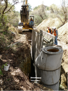 Civil Engineering Firm in Prescott AZ provides construction services on the Penn Alley Sewer Repleacement